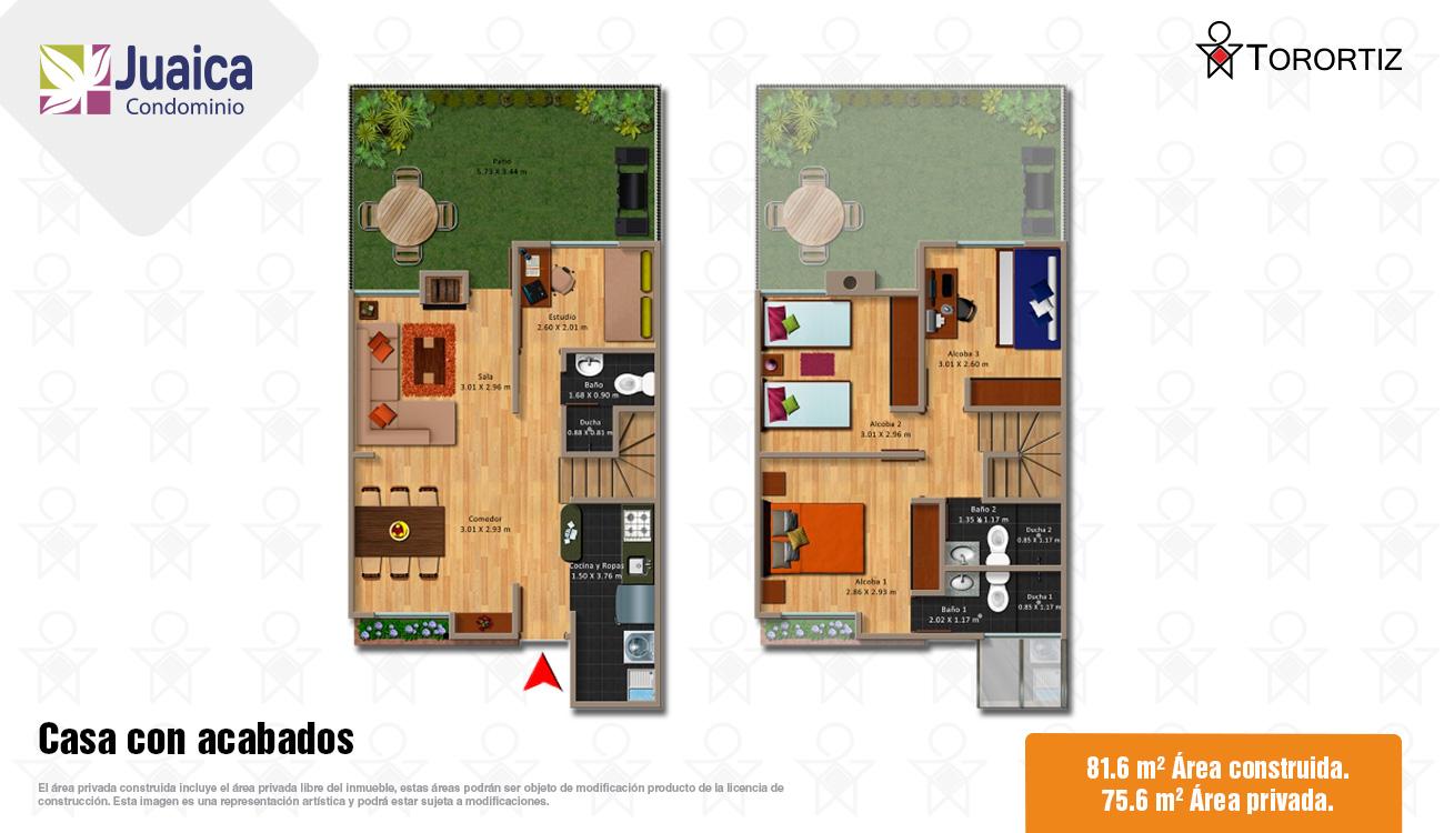 Juaica-condominio-locales-tenjo-calle-80-portal-venta-vivienda-nueva-cundinamarca-mezzanine-torortiz-casas-lotes-Casa con acabados