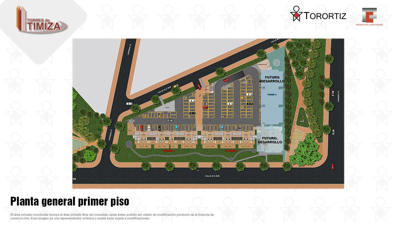 Torres-de-timiza-apartamentos-kennedy-nuevos-vivienda-de-interes-social-subsidio-vis-venta-vivienda-bogota-2-habitaciones-torortiz-casas-lotes-Planta general primer piso