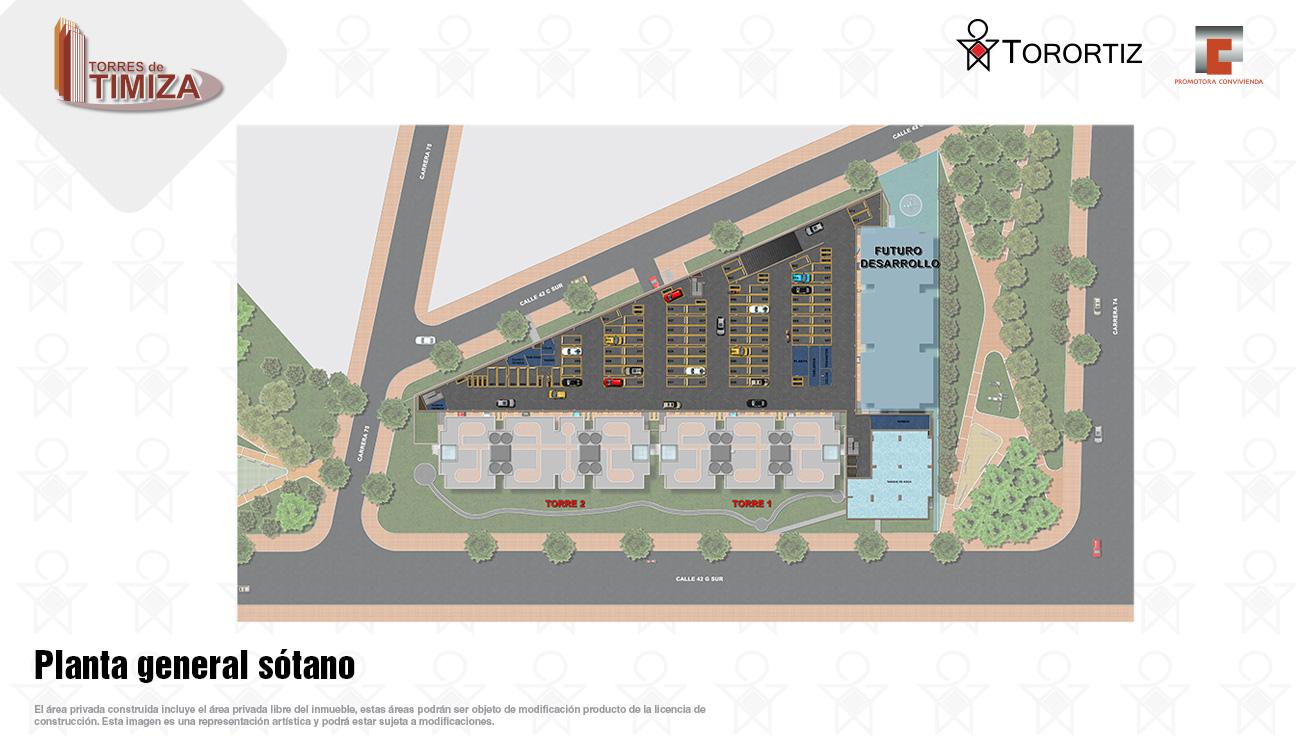 Torres-de-timiza-apartamentos-kennedy-nuevos-vivienda-de-interes-social-subsidio-vis-venta-vivienda-bogota-2-habitaciones-torortiz-casas-lotes-Planta general sotano