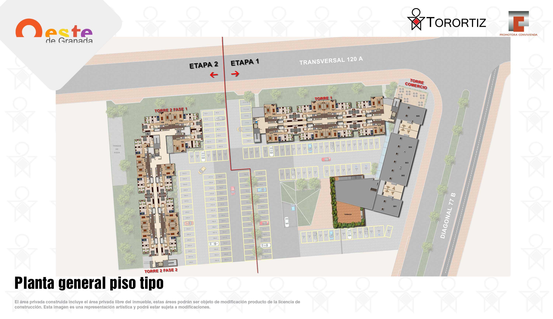 Oeste-de-granada-apartamentos-calle-80-portal-venta-vivienda-nueva-bogota-3-habitaciones-dos-baños-torortiz-casas-lotes-Oeste-de-granada-apartamentos-calle-80-portal-venta-vivienda-nueva-bogota-3-habitaciones-dos-baños-torortiz-casas-lotes-Planta general piso tipo