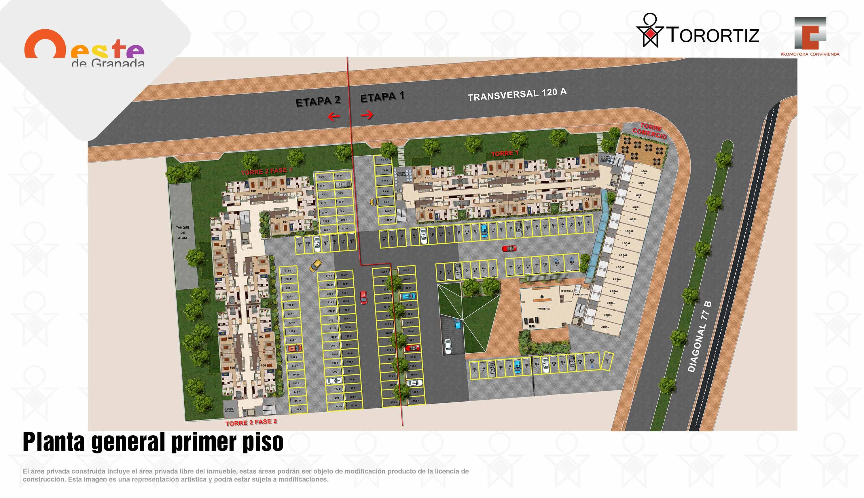 Oeste-de-granada-apartamentos-calle-80-portal-venta-vivienda-nueva-bogota-3-habitaciones-dos-baños-torortiz-casas-lotes-Oeste-de-granada-apartamentos-calle-80-portal-venta-vivienda-nueva-bogota-3-habitaciones-dos-baños-torortiz-casas-lotes-Planta general primer piso