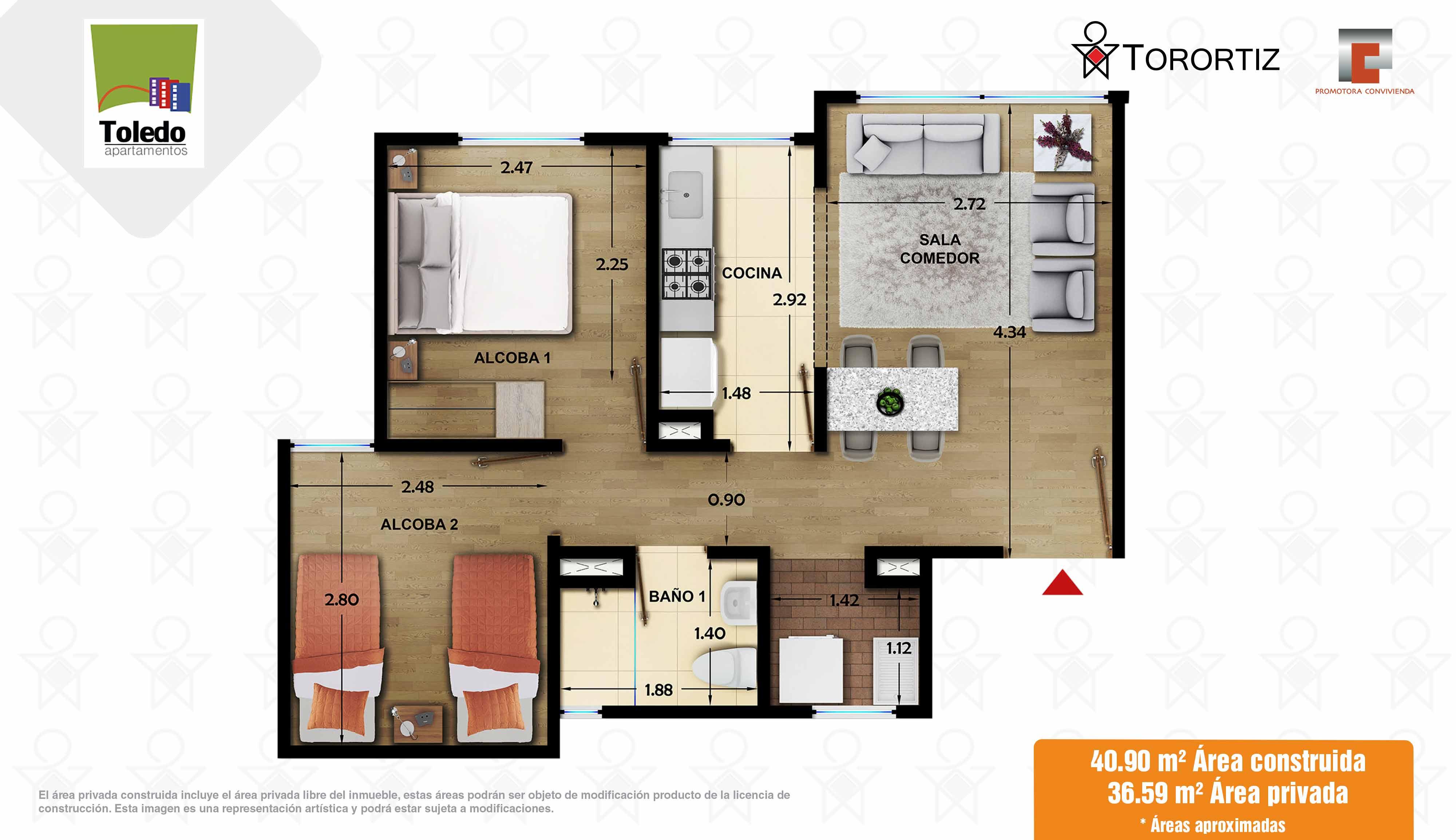 Apartamento_tipo_C_40_m²_Toledo_Apartamentos_Torortiz_Nuevos_en_venta_Soacha