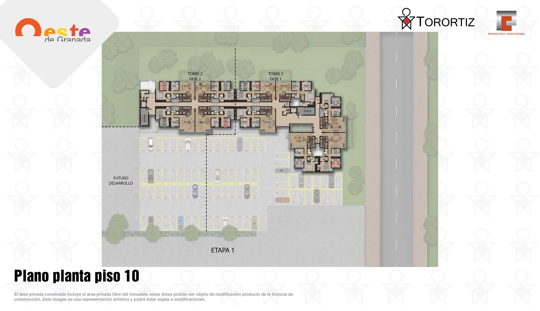 Oeste-de-granada-apartamentos-calle-80-portal-venta-vivienda-nueva-bogota-3-habitaciones-dos-baños-torortiz-casas-lotes-Plano planta piso 10
