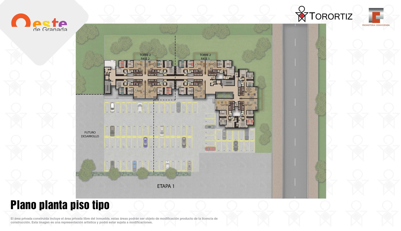 Oeste-de-granada-apartamentos-calle-80-portal-venta-vivienda-nueva-bogota-3-habitaciones-dos-baños-torortiz-casas-lotes-Plano planta piso tipo