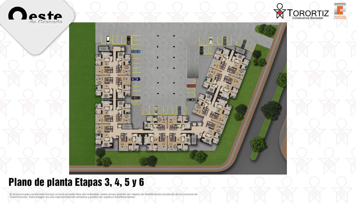 3-Oeste de Granada - Apartamentos en venta - Lanzamiento Etapa - Calle 80 - Gran Granada - Altos - Senderos - Brisas - Ciprés - Sabana - Plano de planta - ET 3 4 5 y 6