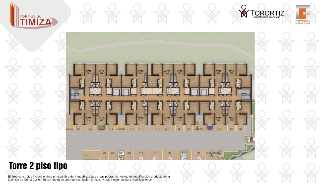 Torres-de-timiza-apartamentos-kennedy-nuevos-vivienda-de-interes-social-subsidio-vis-venta-vivienda-bogota-2-habitaciones-torortiz-casas-lotes-Torre 2 piso tipo