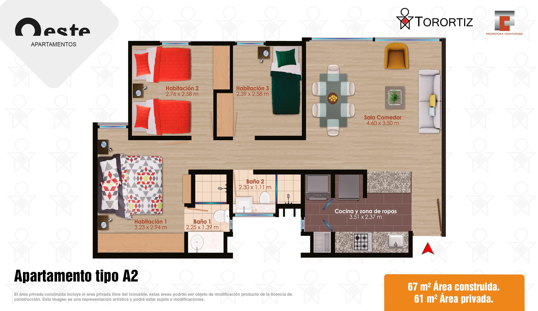 Apartamento tipo A2