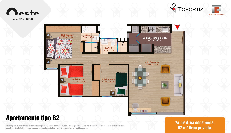 Apartamento tipo B2