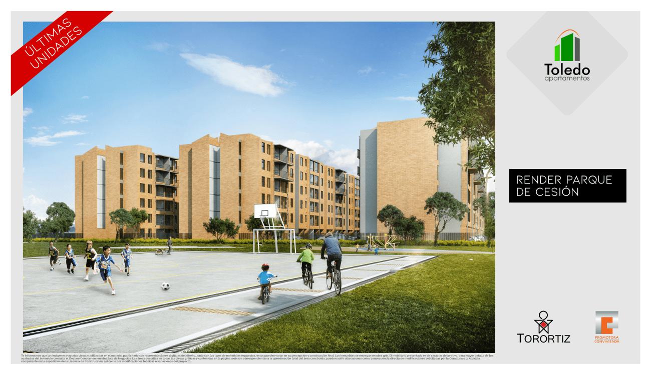 Toledo Apartamentos VIS Vivienda de Interes Social Soacha aplica subsidio hogares huerto Amarilo Apiros Avenida via indumil Parque Campestre